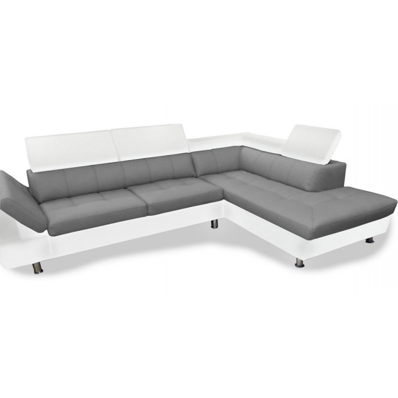 canape gris et blanc simili cuir. Black Bedroom Furniture Sets. Home Design Ideas
