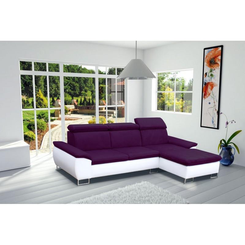canap d 39 angle cayenne 4 places moderne tissu microfibre simili cuir pas cher. Black Bedroom Furniture Sets. Home Design Ideas