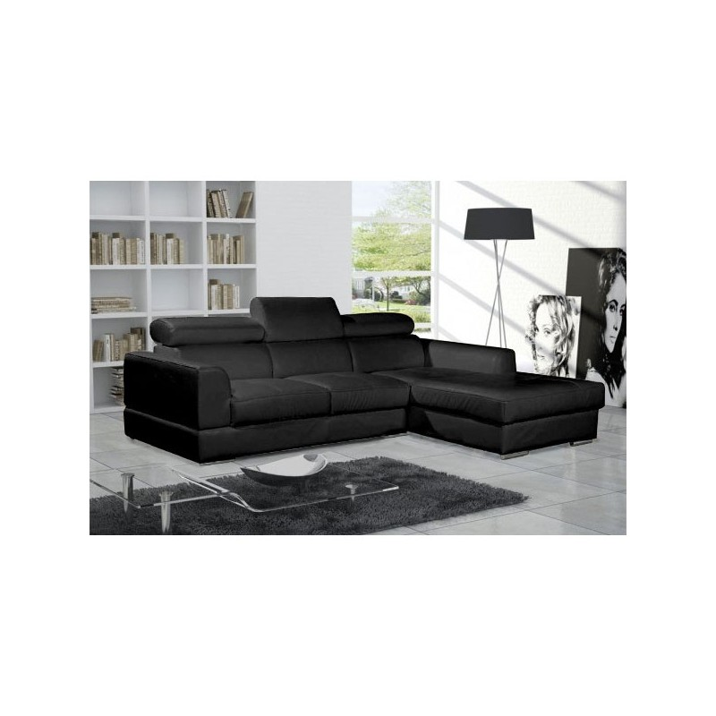 canap d 39 angle 4 places neto madrid moderne design simili cuir tissu. Black Bedroom Furniture Sets. Home Design Ideas