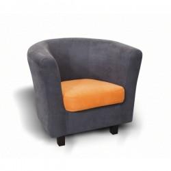 Fauteuil moderne en tissu ou en simili cuir cabriolet - Fauteuil cabriolet pivotant ...