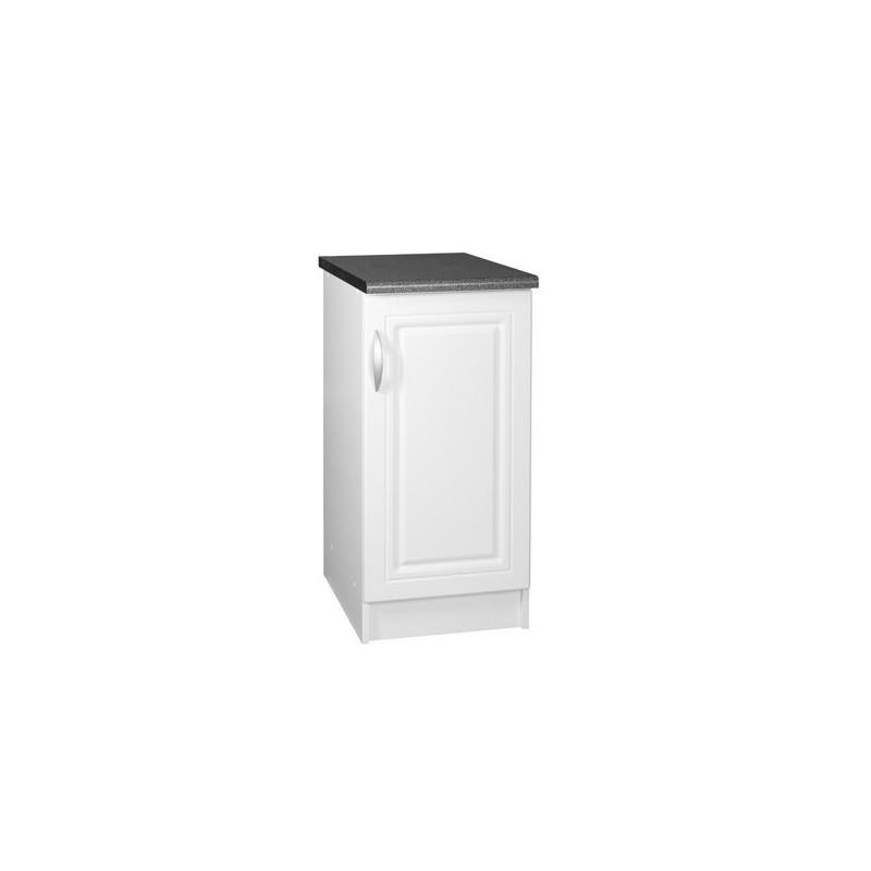 meuble bas de cuisine dina 30 cm 1 porte 1 étagère moulures mdf - Meuble Cuisine 30 Cm
