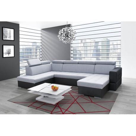 canap d 39 angle 6 places en u convertible softy xxl moderne tendance. Black Bedroom Furniture Sets. Home Design Ideas