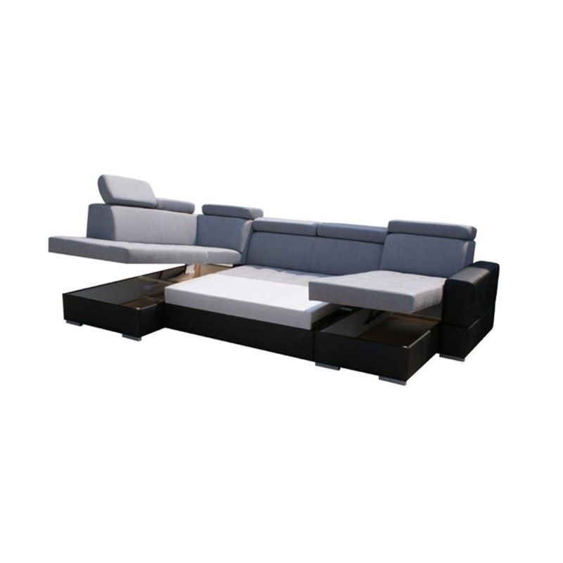 canap d 39 angle en u convertible softy xxl 6 places. Black Bedroom Furniture Sets. Home Design Ideas