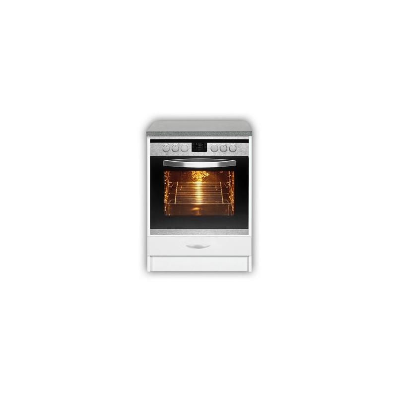 meuble de cuisine pour four encastrable de 60 cm oxane laqué brillant - Meuble Cuisine Four Encastrable