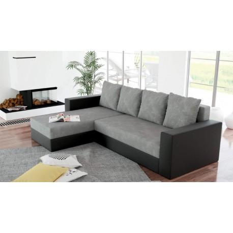canap d 39 angle r versible et convertible en lit arion avec coffre. Black Bedroom Furniture Sets. Home Design Ideas