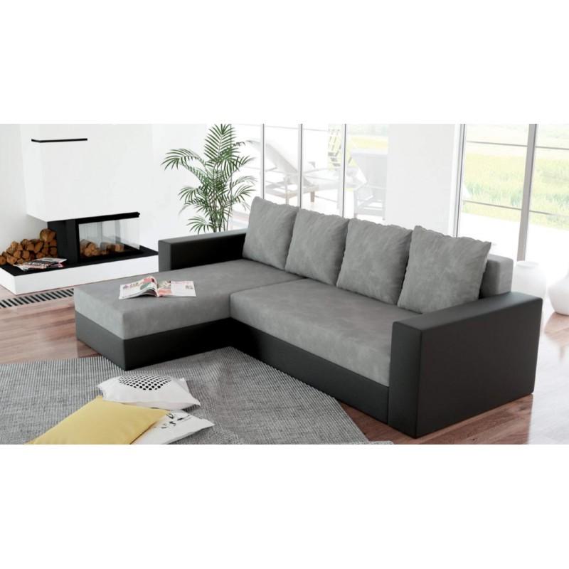 canap d 39 angle r versible et convertible en lit arion avec. Black Bedroom Furniture Sets. Home Design Ideas