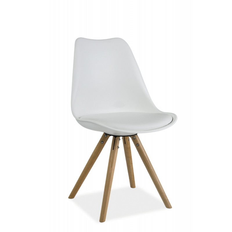 Chaise scandinave dsw design eames 4 pieds bois blanc for Coussin pour chaise dsw eames