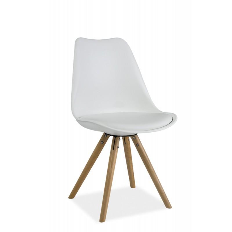 Chaise scandinave dsw design eames 4 pieds bois blanc noir gris erie Chaise scandinave design