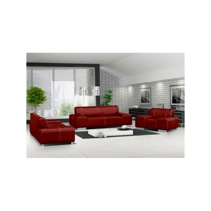 ensemble de canap s 3 2 1 flavio en simili cuir noir ou marron. Black Bedroom Furniture Sets. Home Design Ideas