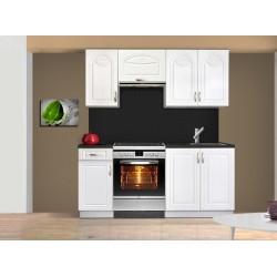 cuisine compl te en kit avec fa ade blanche et moulures mati re mdf tendencio. Black Bedroom Furniture Sets. Home Design Ideas