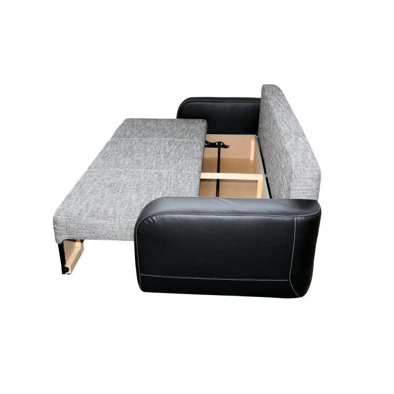 canap convertible 3 places fiona tissu maille gris chin. Black Bedroom Furniture Sets. Home Design Ideas