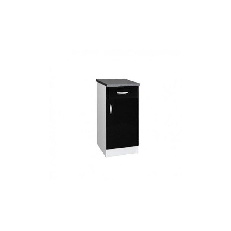 meuble de cuisine bas porte cm oxane laqu brillant avec with meuble bas cuisine largeur 50 cm. Black Bedroom Furniture Sets. Home Design Ideas