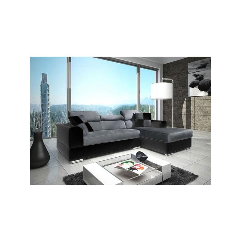 canap d 39 angle 4 places neto madrid moderne design simili cuir tissu. Black Bedroom Furniture Sets. Home Design Ideas