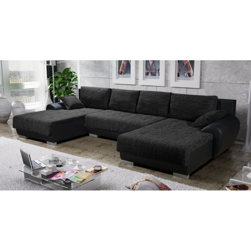 canap d 39 angle en u convertible et r versible teren. Black Bedroom Furniture Sets. Home Design Ideas