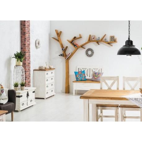 etag re bliblioth que treea en forme d 39 arbre fixer au mur. Black Bedroom Furniture Sets. Home Design Ideas