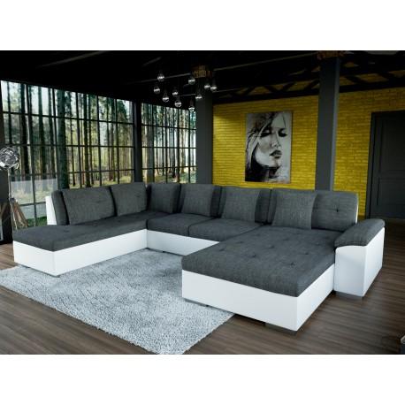 grand canap d 39 angle en u smile de 6 7 places tendance. Black Bedroom Furniture Sets. Home Design Ideas