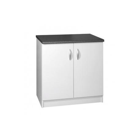 meuble de cuisine bas 2 portes 80 cm oxane laqu brillant. Black Bedroom Furniture Sets. Home Design Ideas