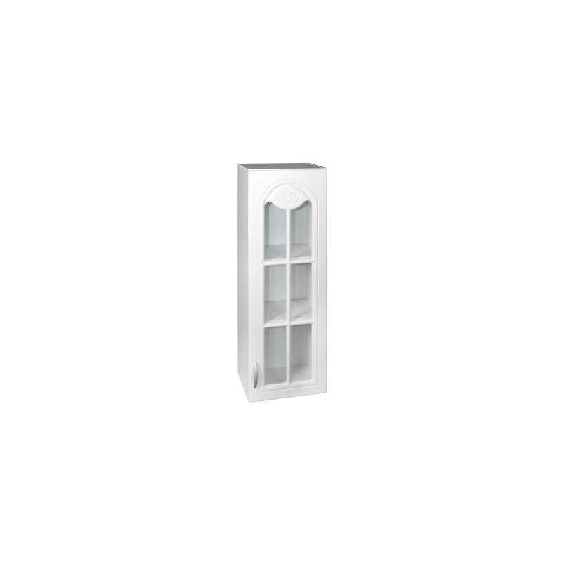 Meuble de cuisine haut 1 porte vitrine 40 cm dina en for Meuble etagere avec porte
