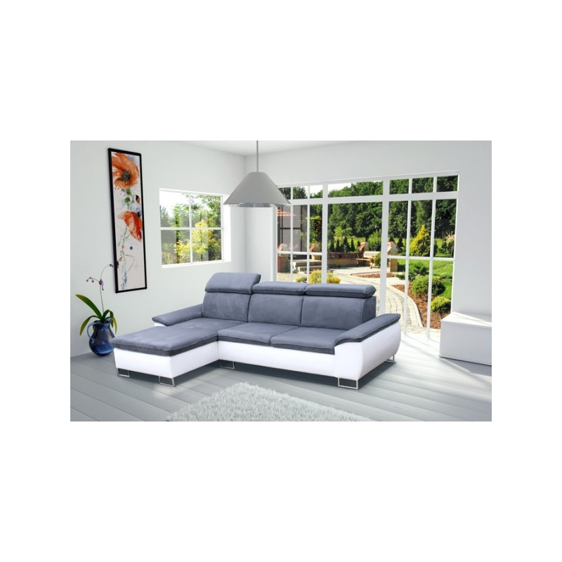 Canap d 39 angle cayenne 4 places moderne tissu microfibre - Creer son canape ...