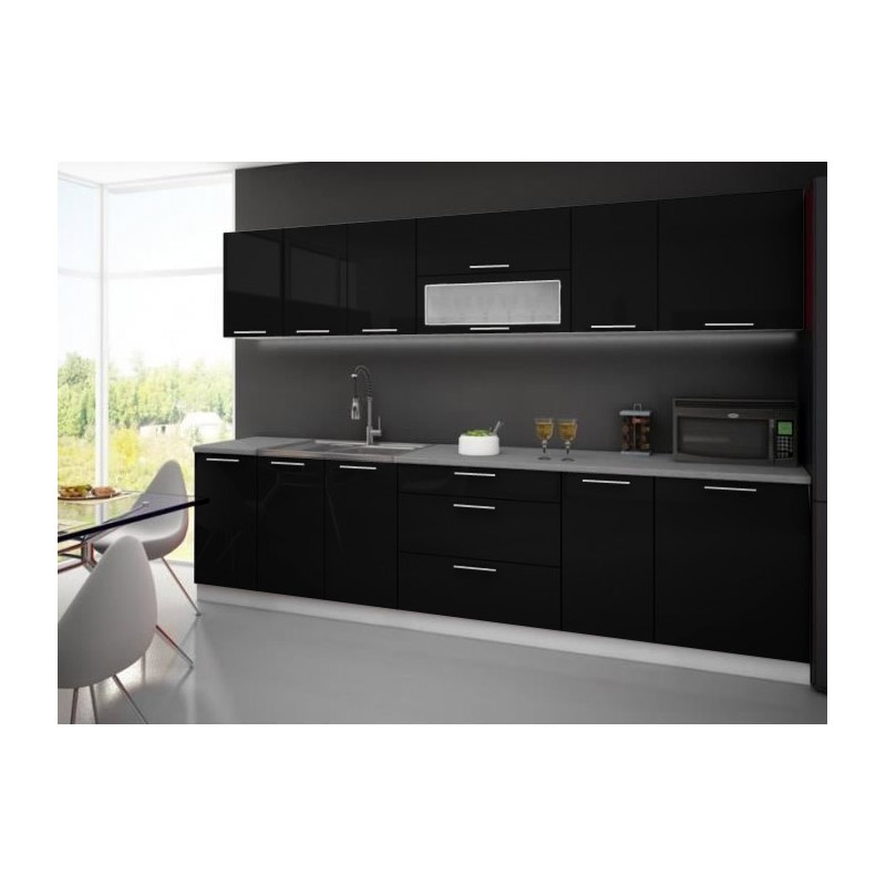 cuisine quip e compl te 3m tari laqu e brillant. Black Bedroom Furniture Sets. Home Design Ideas