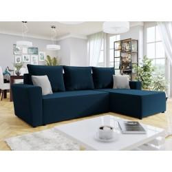 Canapé d'angle convertible TOLIA en tissu
