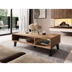 Kaspro - Table Basse - Wotan/Noir style industriel
