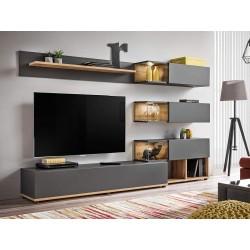 Ensemble meuble TV SILK avec étagère