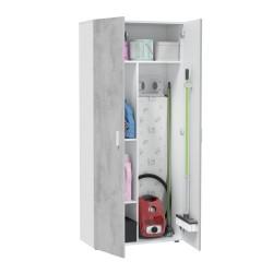 MULTIUSOS Armoire 2 portes gris et blanc