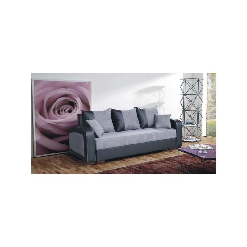 canap convertible 3 places fiona tissus et simili cuir. Black Bedroom Furniture Sets. Home Design Ideas