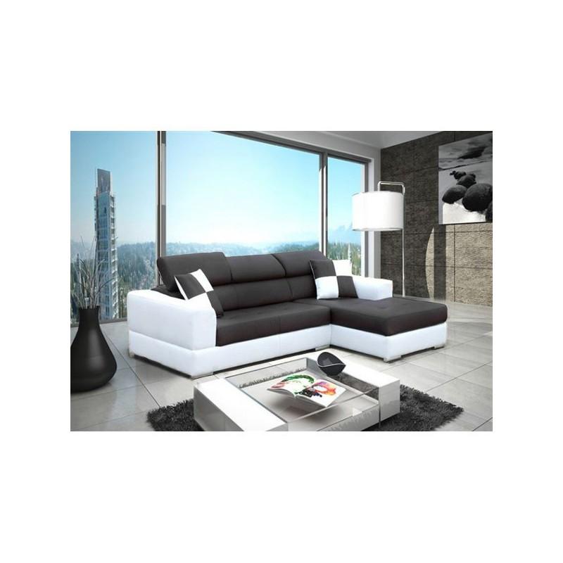 canap dangle 4 places moderne et design neto pas cher - Canape D Angle Noir Et Blanc Pas Cher