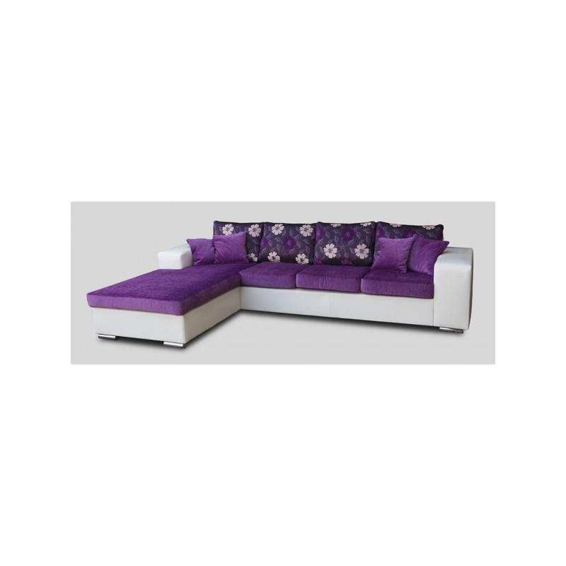 canap d 39 angle 5 places harmonia tissu simili cuir design. Black Bedroom Furniture Sets. Home Design Ideas