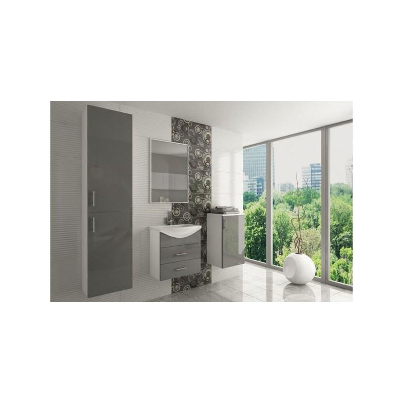 Salle de bain compl te ocean laqu e avec vasque pas cher for Salle de bains complete