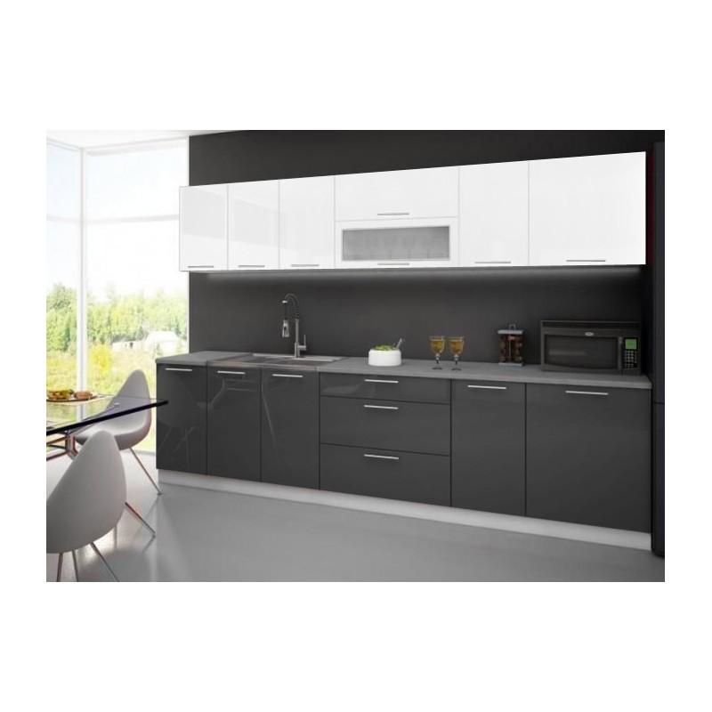 cuisine quip e compl te 3m tari laqu e bicolore 2 couleurs pas cher. Black Bedroom Furniture Sets. Home Design Ideas
