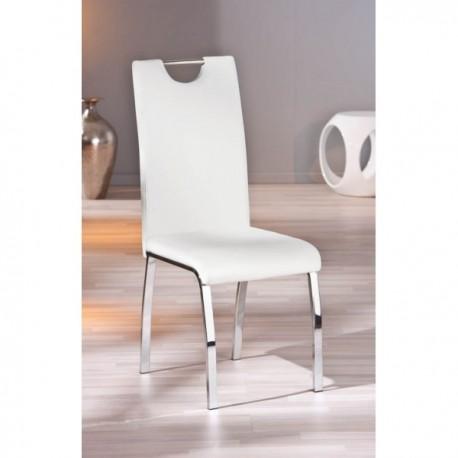 Lot de 2 chaises texas simili cuir noir blanc gris design - Lot de chaises design pas cher ...