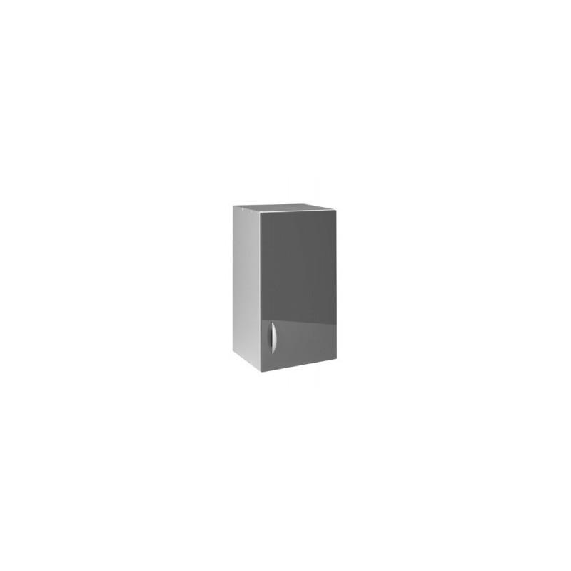 Meuble de cuisine haut oxane 40 cm 1 porte 1 tag re for Porte cuisine laquee
