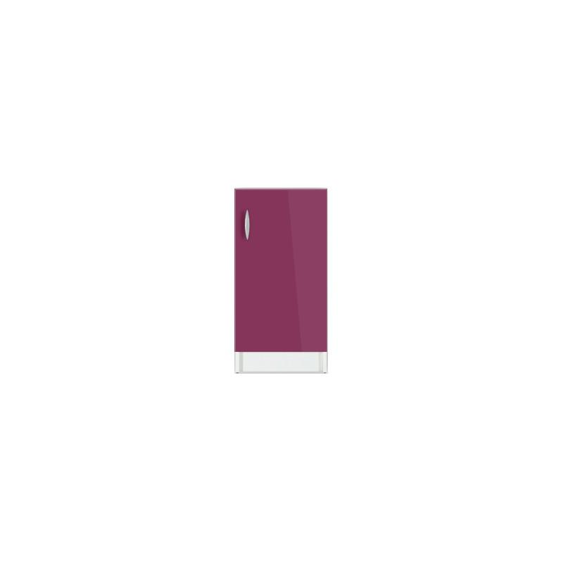 meuble de cuisine bas oxane 30 cm 1 porte 1 tag re laqu brillant. Black Bedroom Furniture Sets. Home Design Ideas