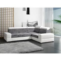 Canapé d'angle 4 places CAPRE lit + coffre