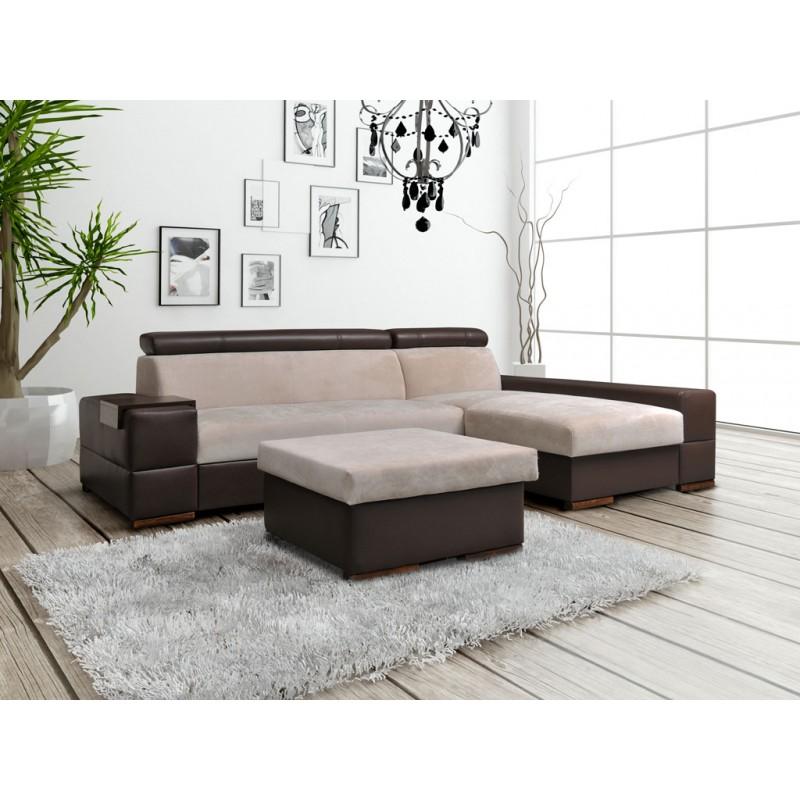 canape panoramique convertible et pouf capri With tapis de sol avec canapé angle convertible beige