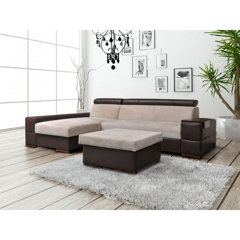 canap panoramique convertible et pouf capri. Black Bedroom Furniture Sets. Home Design Ideas