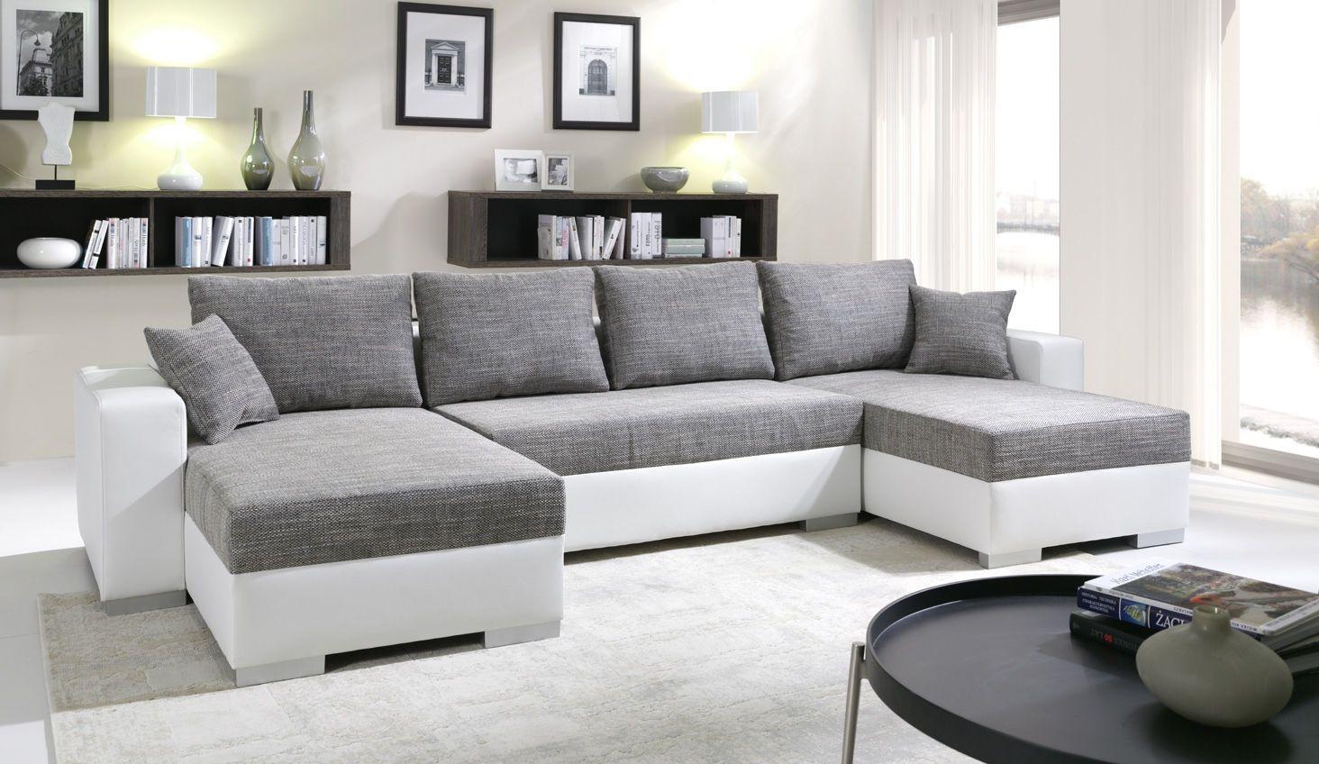 Meridienne Moderne Pour Salon canapé panoramique convertible en u enno 5 places