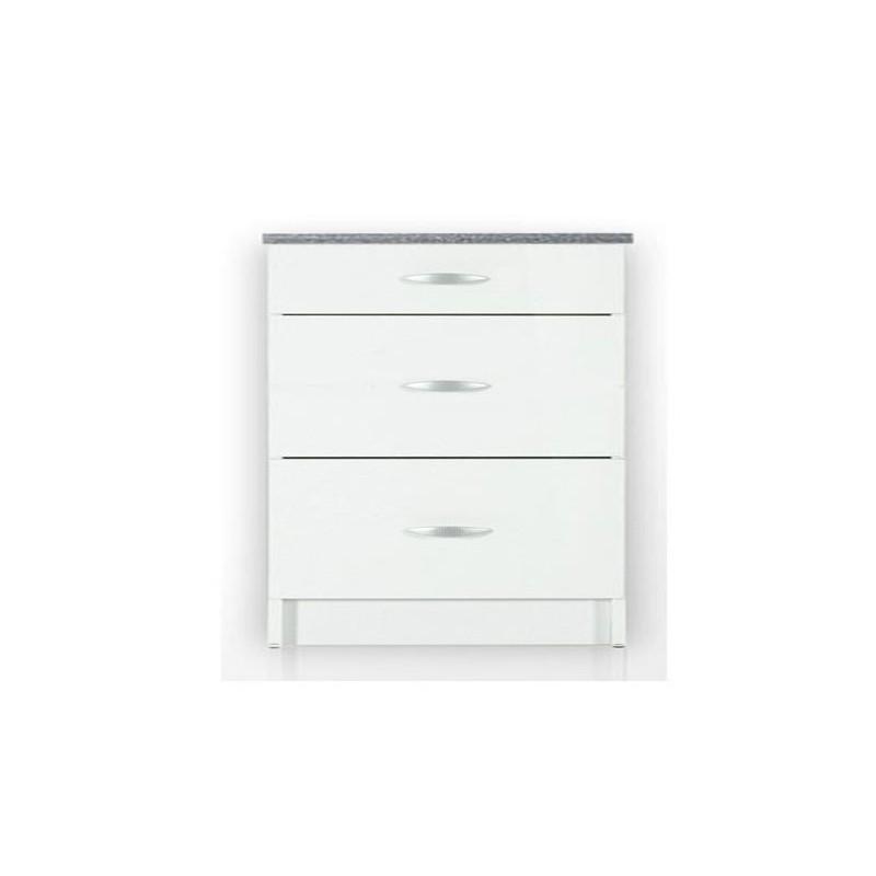 meuble de cuisine casserolier 90 cm oxane laqu brillant avec 3 tiroirs. Black Bedroom Furniture Sets. Home Design Ideas
