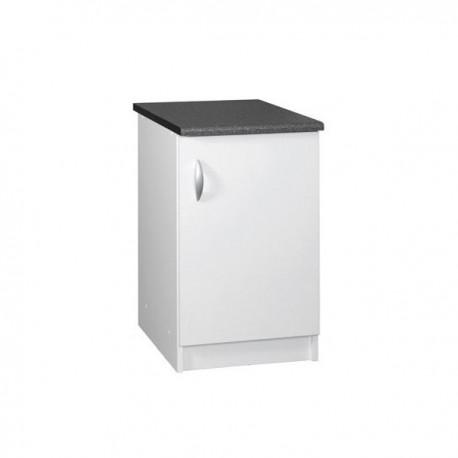 module de cuisine bas 1 porte 60 cm OXANE laqué brillant blanc