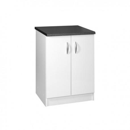meuble de cuisine bas 2 portes 60 cm oxane laqu brillant avec 1 tag re. Black Bedroom Furniture Sets. Home Design Ideas