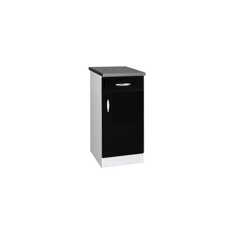meuble de cuisine bas 1 porte 1 tiroir 40 cm oxane laqu brillant. Black Bedroom Furniture Sets. Home Design Ideas