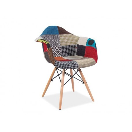 Chaise scandinave DAW Patchwork multicolore Eames DONI