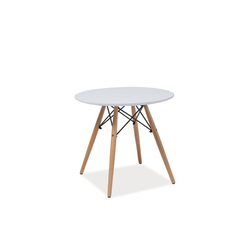 Table scandinave daw inspiration eames soho avec pieds en bois for Table inspiration scandinave