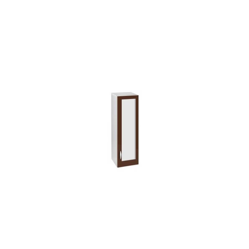 Meuble cuisine colonne haut 1 porte vitrine 40 cm oxane Agencement cuisine meuble haut 40 cm hauteur