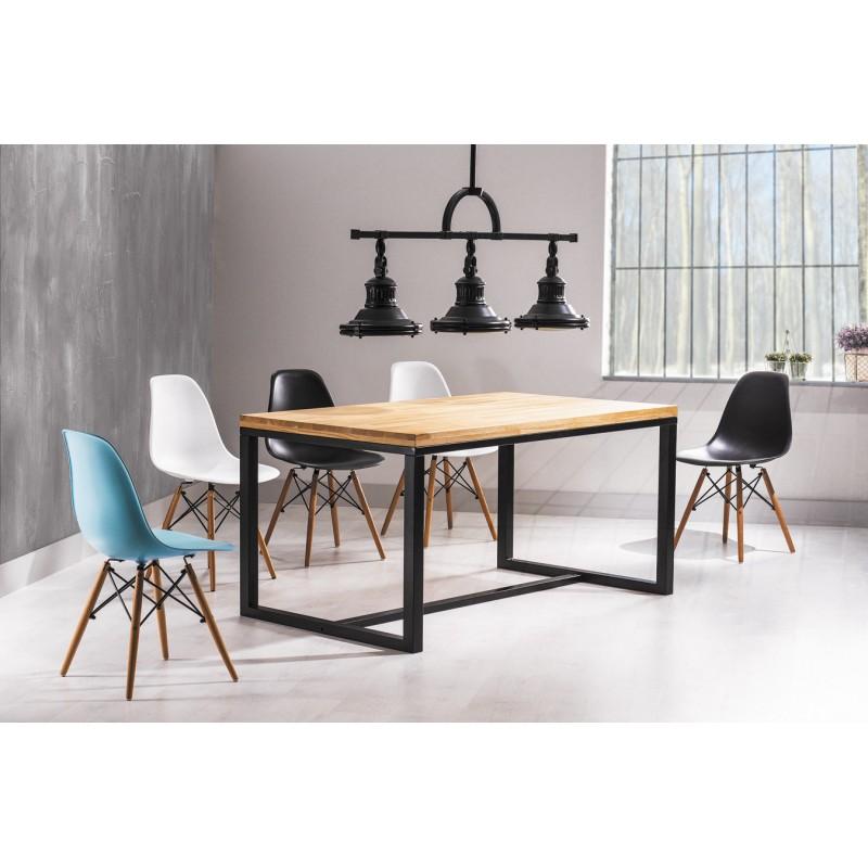 table style loft industriel loras plateau h tre et pieds en m tal. Black Bedroom Furniture Sets. Home Design Ideas