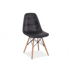 Chaise scandinave dsw AXEL aspect boutonné