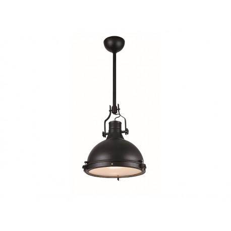 Suspension lumière LAMPA style industriel métal noir loft